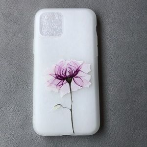 iPhone 11 Pro Frosted Silicone Floral Phone Case